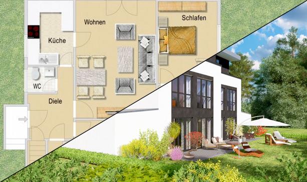 Grundriss Erstellung / 3D-Visualisierung